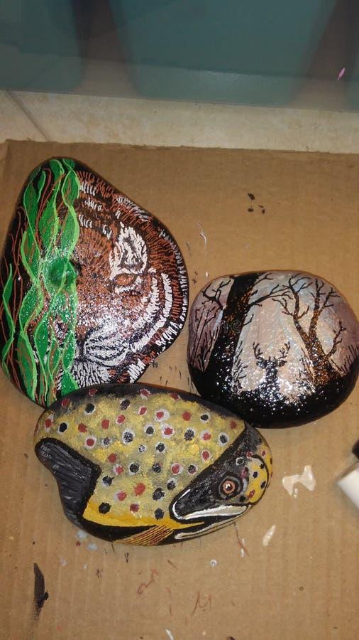 Painted rocks stock photo
