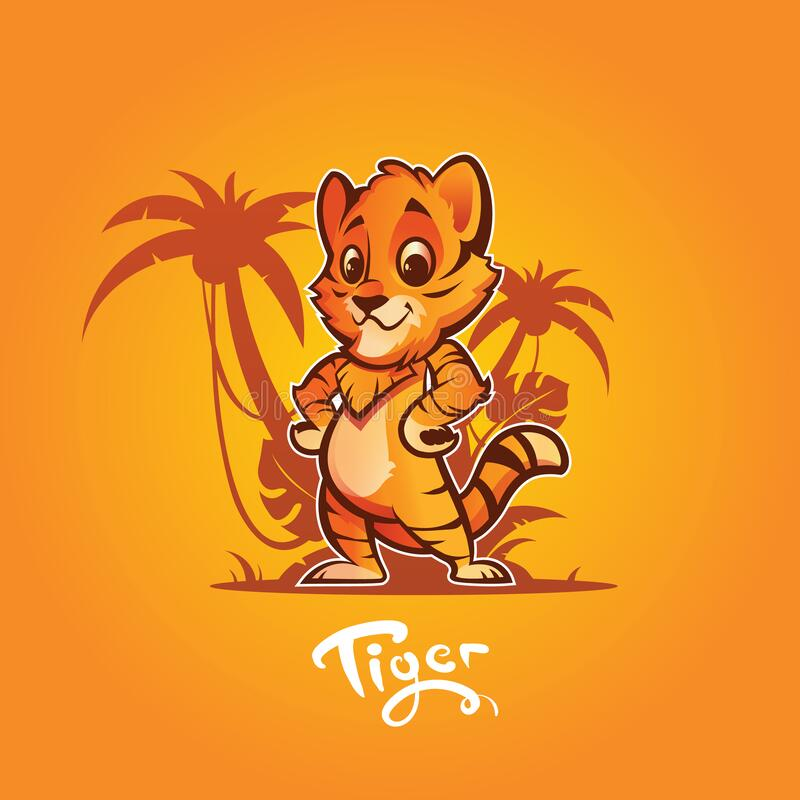 Free Tiger. Cartoon Character. Vector Illustration Stock Images - 173374694