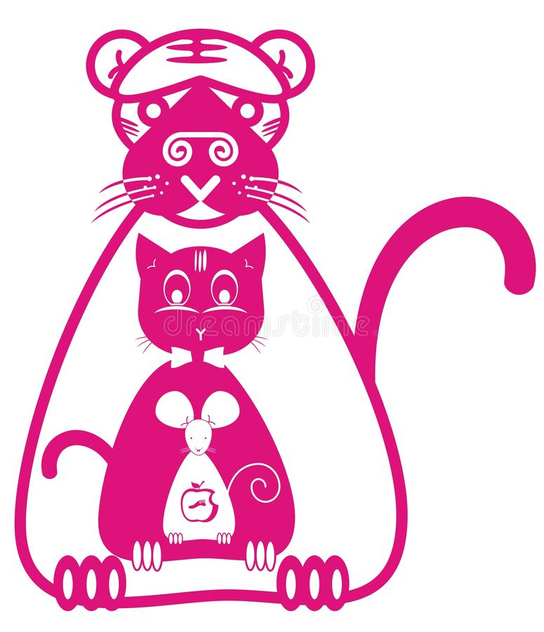 Free Tiger Cat And Mouse Royalty Free Stock Image - 18666606