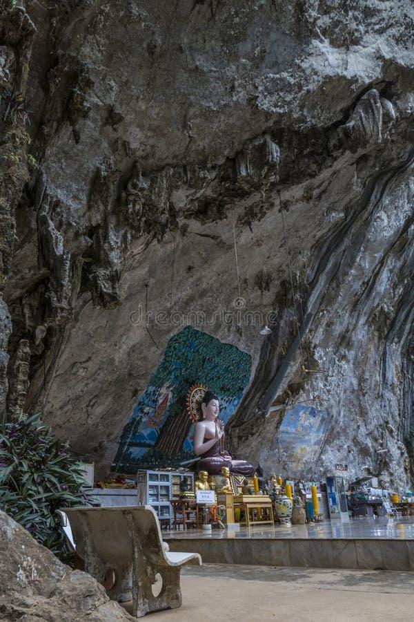 Tiger Cave Temple, Krabi, Thaïlande photographie stock libre de droits