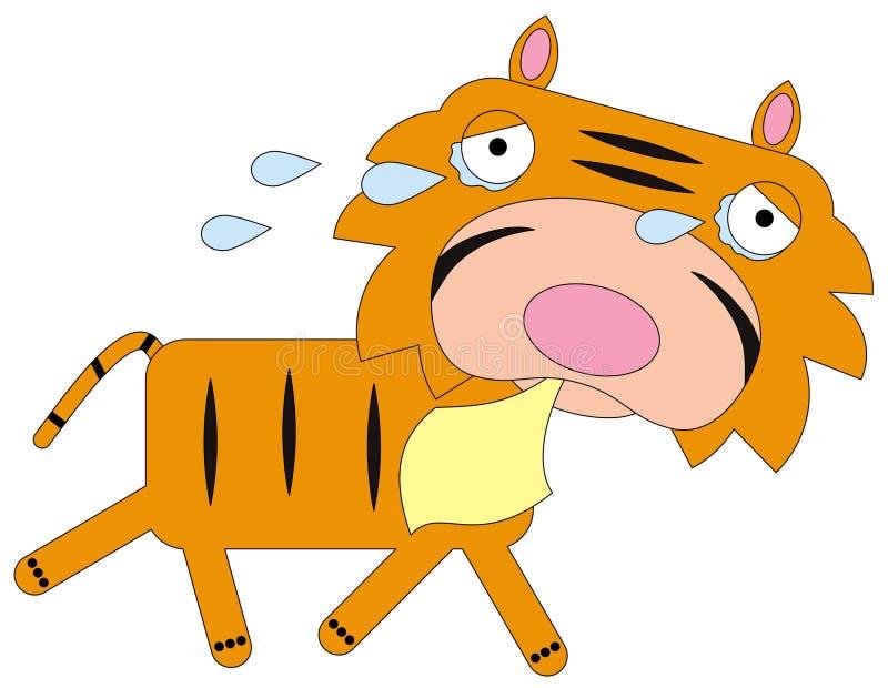 Tiger cries stock illustration