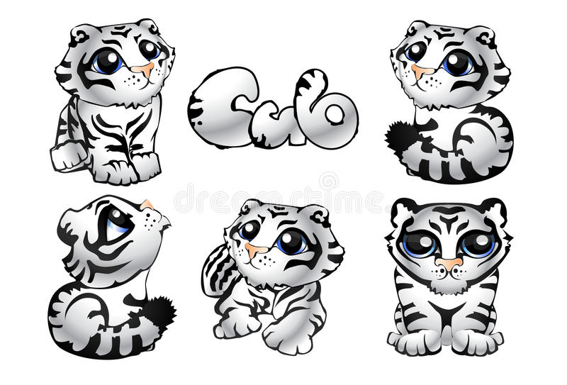 Tiger_cub immagine stock