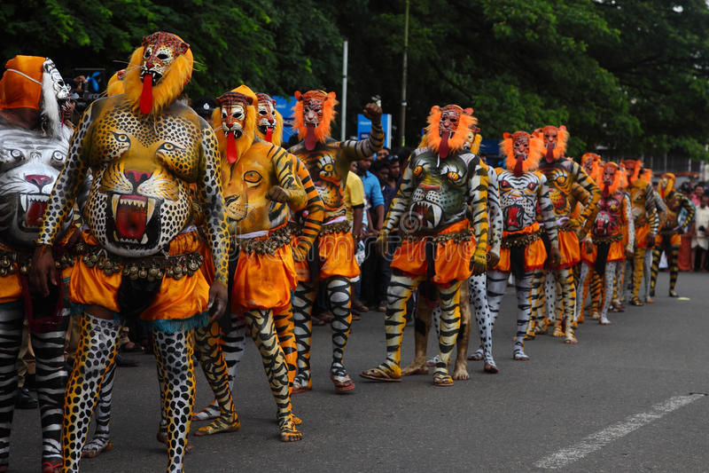 Tiger dance stock image
