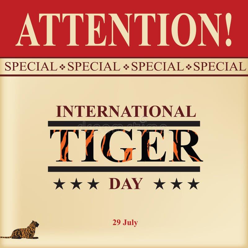 Tiger Day internacional ilustração royalty free