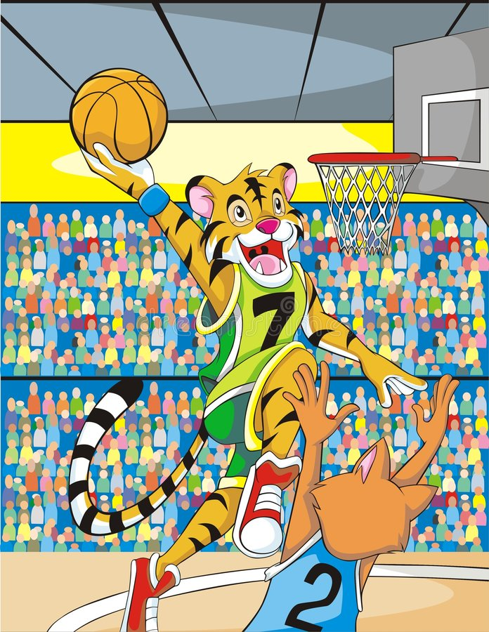 Tiger Dunk Stock Photography