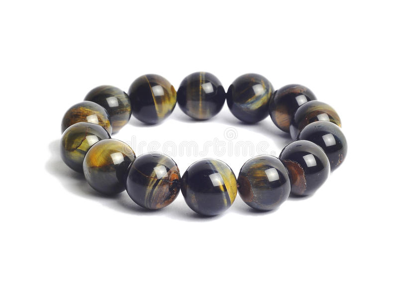 Tiger eye lucky stone bracelet royalty free stock images