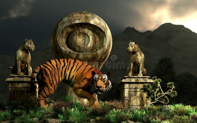 Tiger Eye Monument vektor abbildung