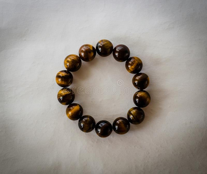 Tiger Eye Stone Bracelet stock photo