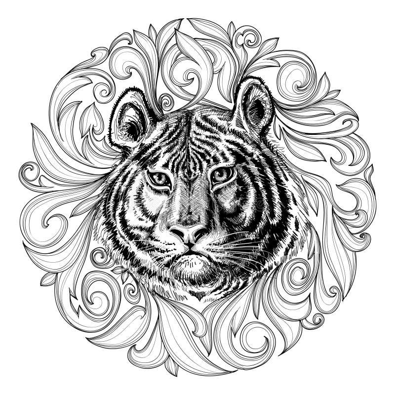 Tiger Face ilustração do vetor