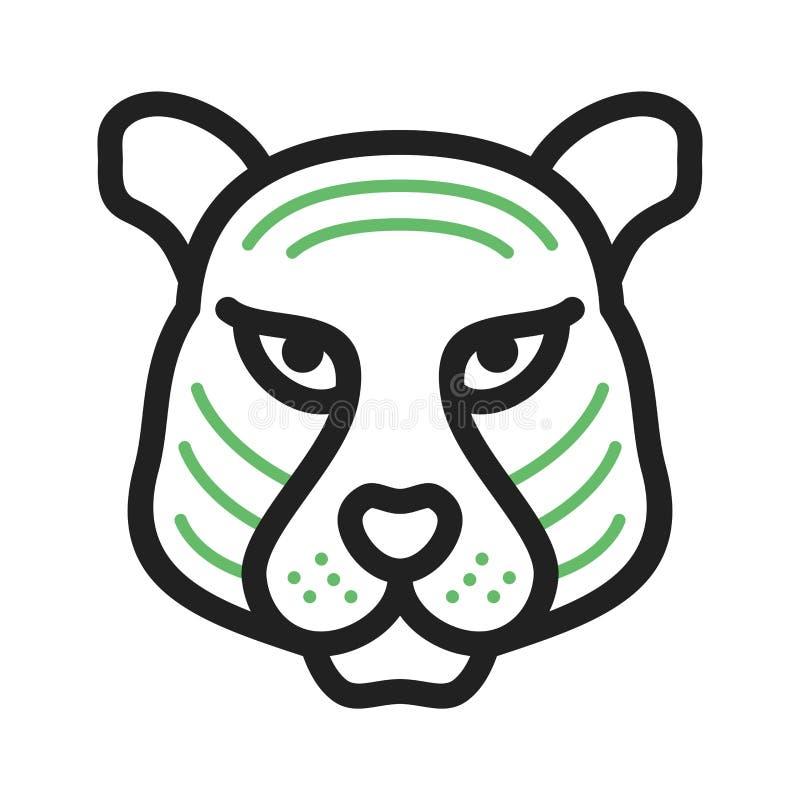 Tiger Face illustration stock