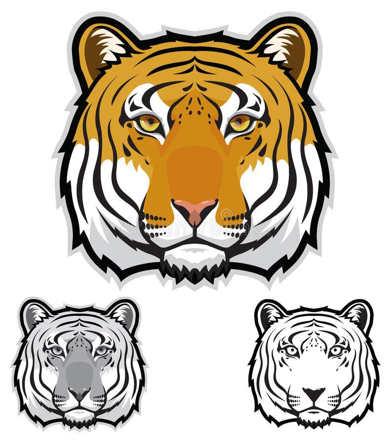 Download Tiger Faces Stock Vector - Image: 42474606