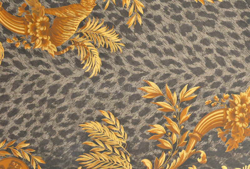 Tiger fur wallpaper. Background texture royalty free stock image