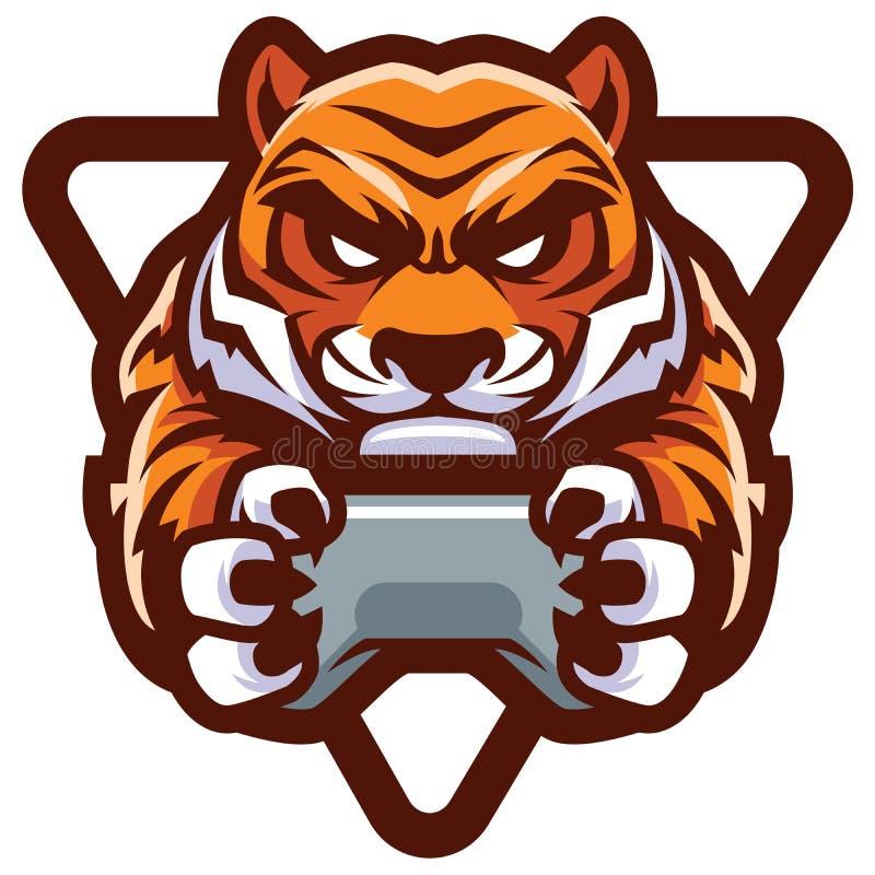 Tiger Gamer Mascot ilustración del vector