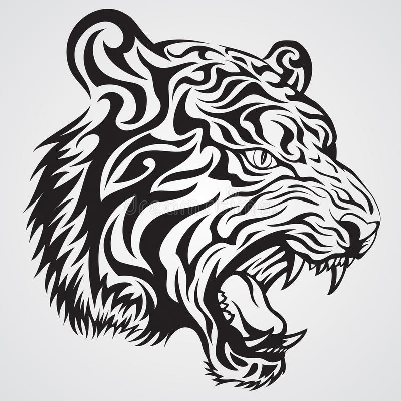 Tiger-Gesicht lizenzfreie abbildung