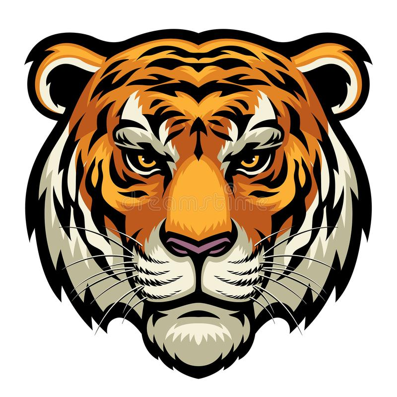 Tiger Head ilustração do vetor