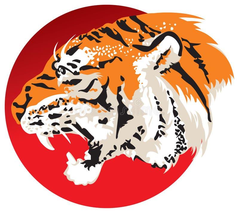 Tiger head stock illustration