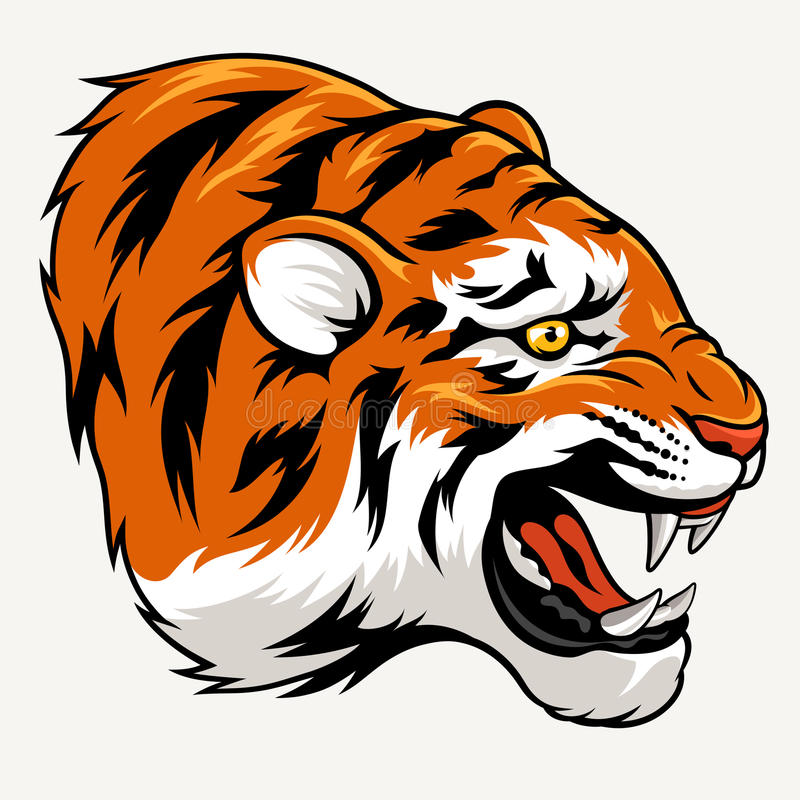 Tiger Head stock illustratie