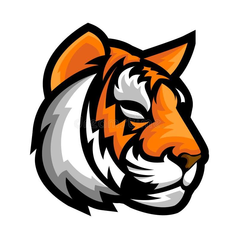 Tiger Head Logo Illustration Vector stock de ilustración