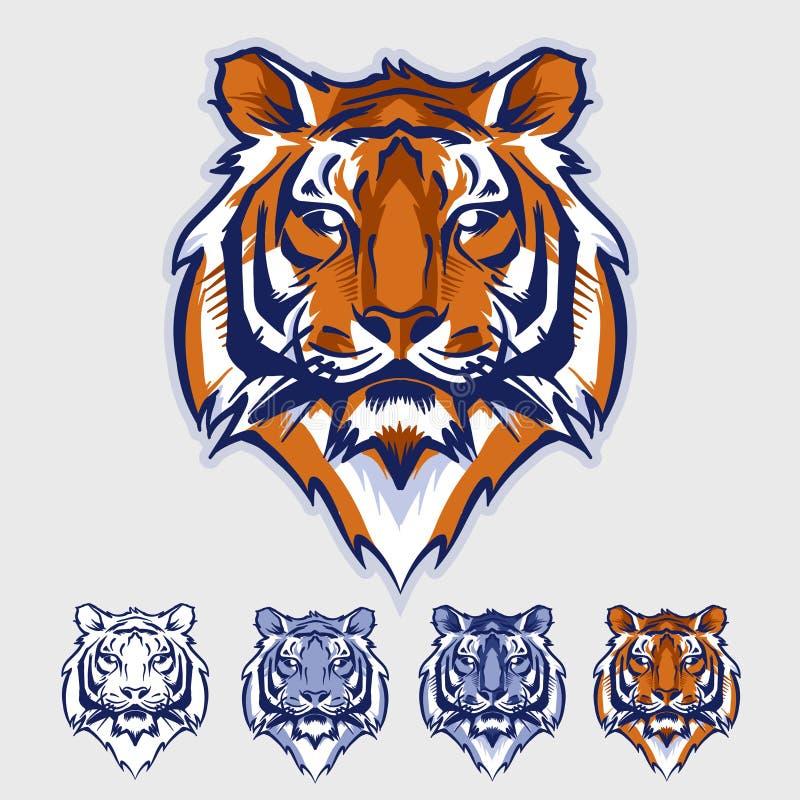 tiger head mascot and logo stock vector illustration of