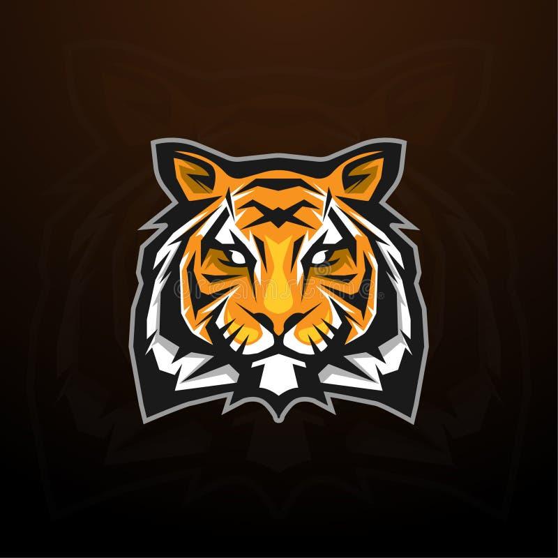 Tiger head mascot logo concept. Tiger head mascot design for logo concept sporty, strong illustration stock illustration
