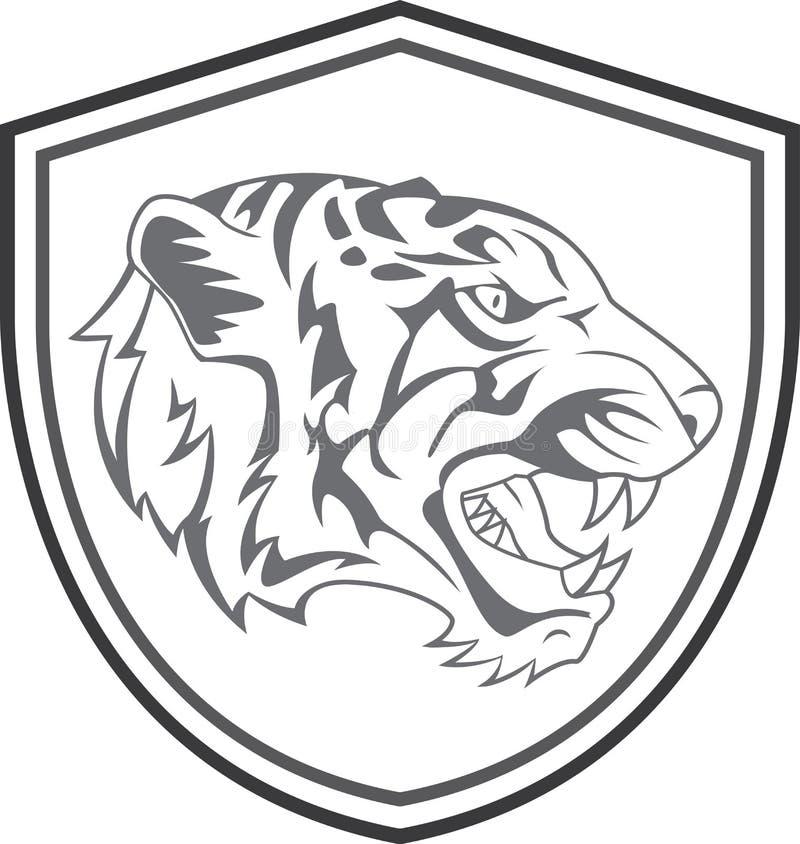 Tiger Head Mascot Tattoo stock illustratie
