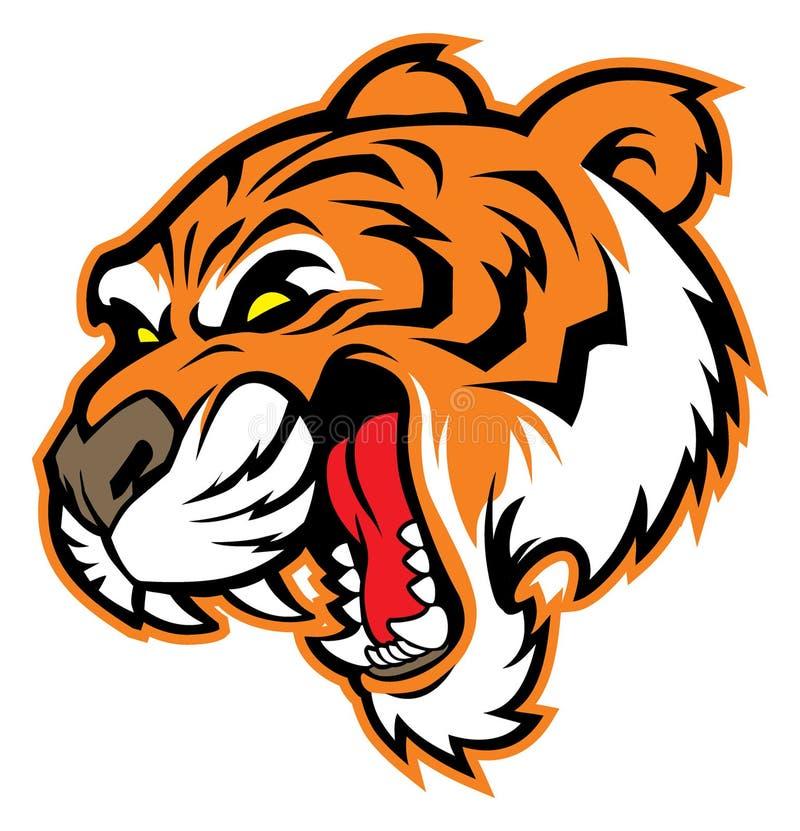 Tiger head mascot vector illustration