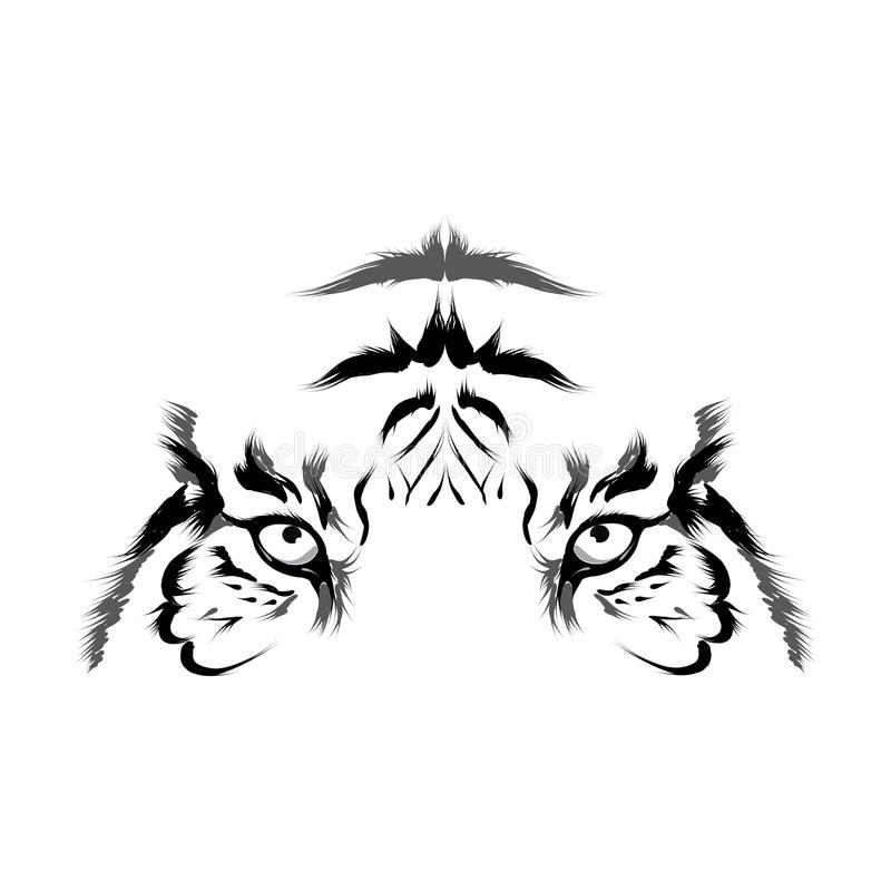 Tiger (head outline vector). Tiger (head outline. This is file of EPS10 format royalty free illustration