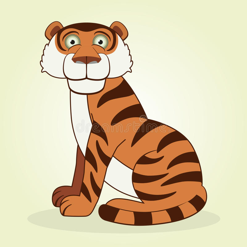 Download Tiger stock illustration. Image of animal, tail, striped - 32238796