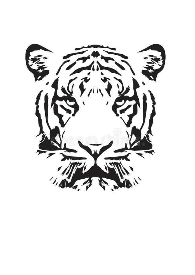 Tiger Illustration, progettazione della parete, Art Decor illustrazione vettoriale
