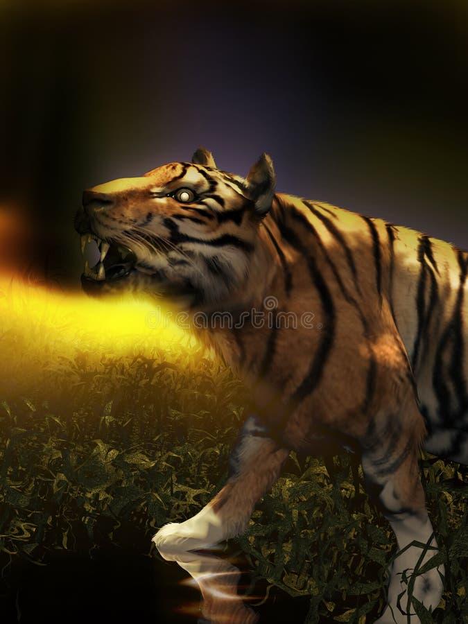 Tiger im Laguna stock abbildung