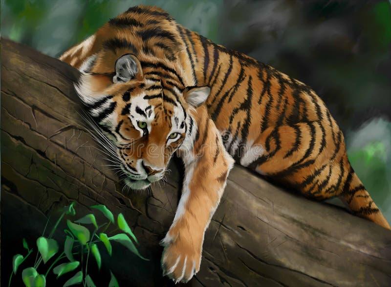 Tiger jpeg vektor illustrationer