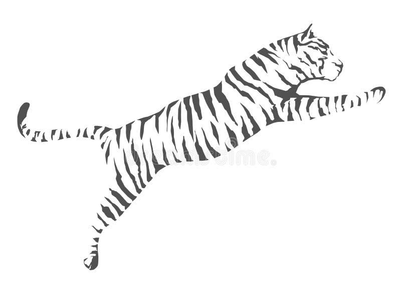Tiger Jump ilustração do vetor