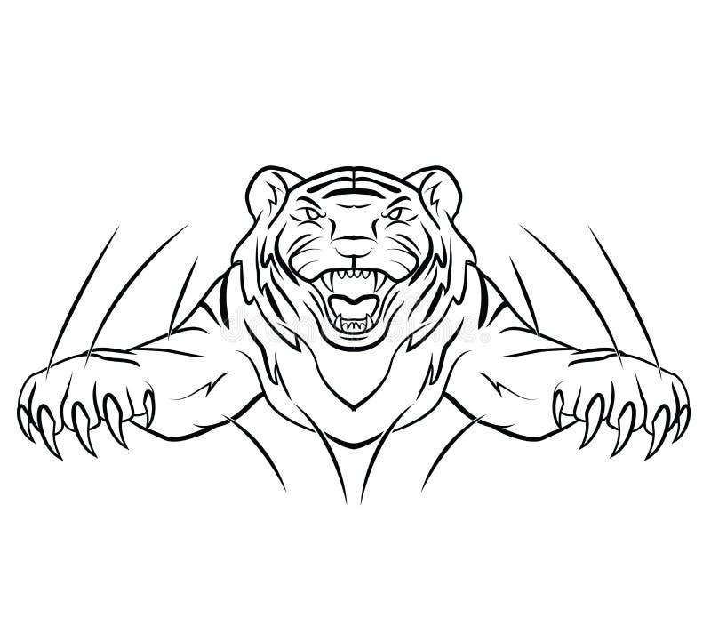 Tiger Jump illustrazione di stock