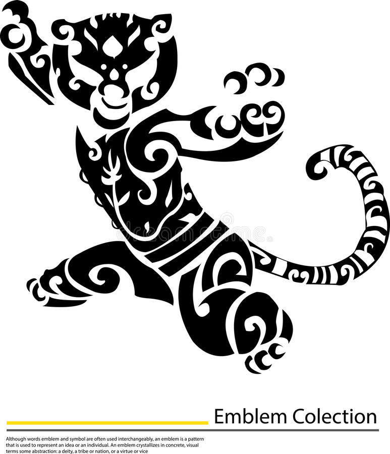 Download Tiger Kung Fu Portrait On Isolated White Background Stock Illustration - Image: 31973056