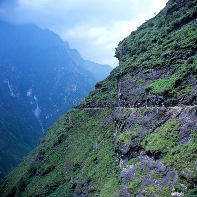 Download Tiger Leaping Gorge stock photo. Image of path, mountain - 8641558