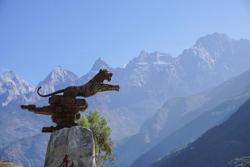 Tiger Leaping Gorge in Lijiang, Yunnan Province, China royalty free stock photography