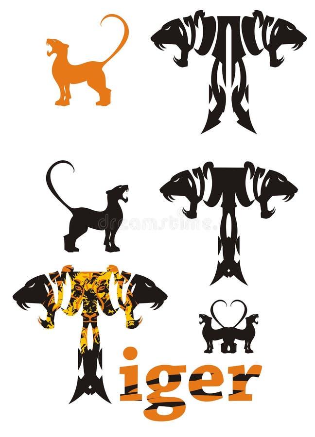 Tiger letter stock illustration