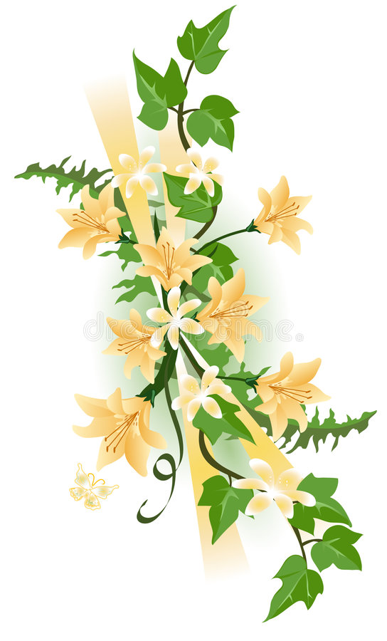 Tiger Lily and Ivy stock illustration