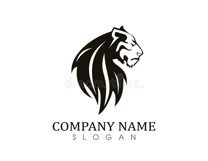Tiger logo 2. Lion logo on white background stock illustration