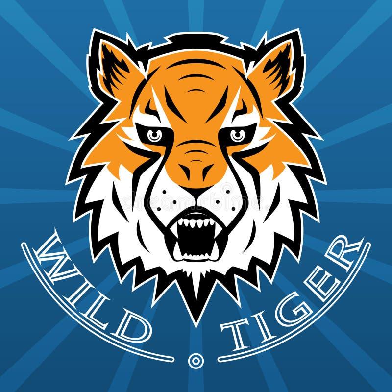 Tiger Logo Team Symbol Sport Mascot Icon aisló stock de ilustración
