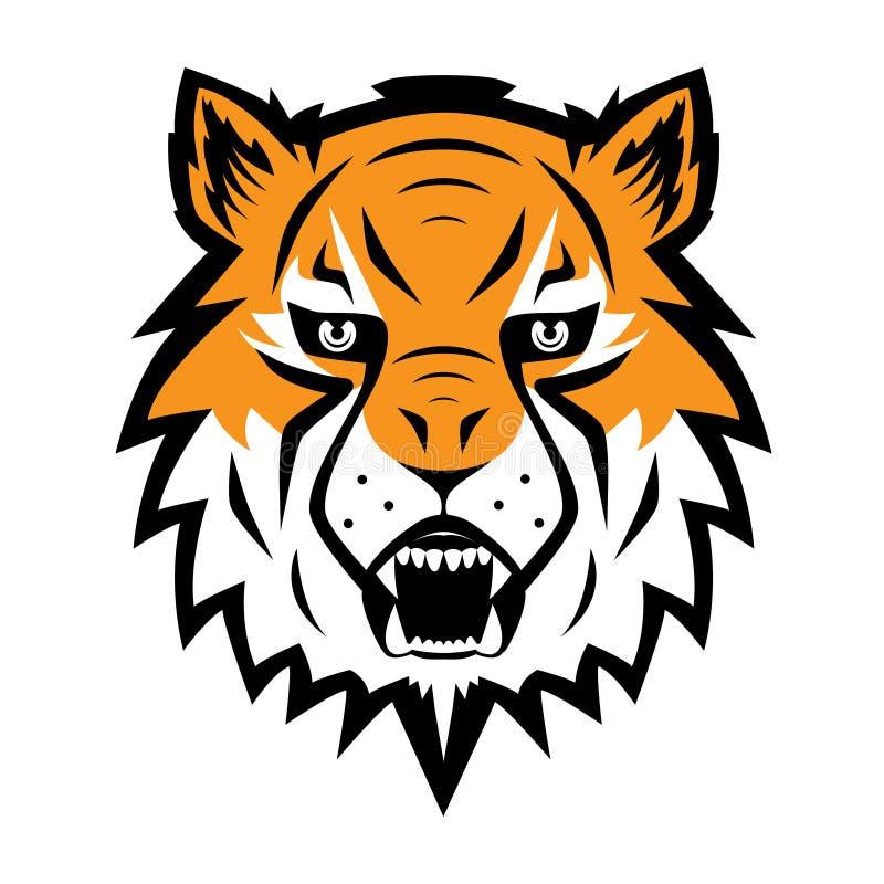 Tiger Logo Team Symbol Sport Mascot Icon isolou-se ilustração royalty free
