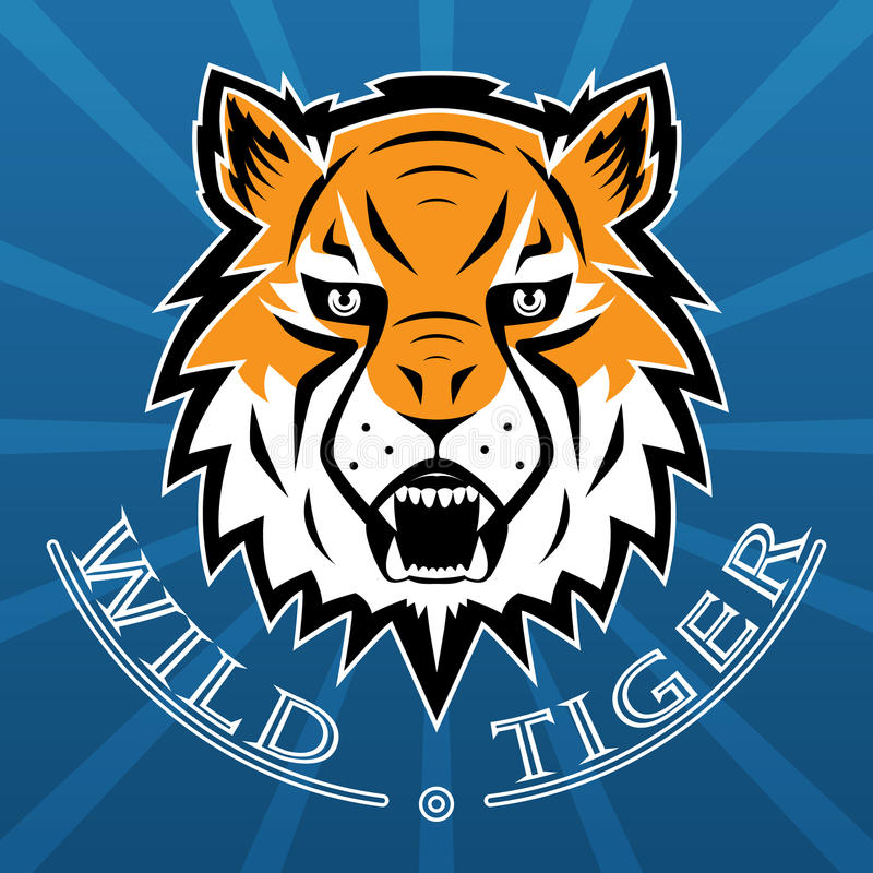 Tiger Logo Team Symbol Sport Mascot Icon isolou-se ilustração stock