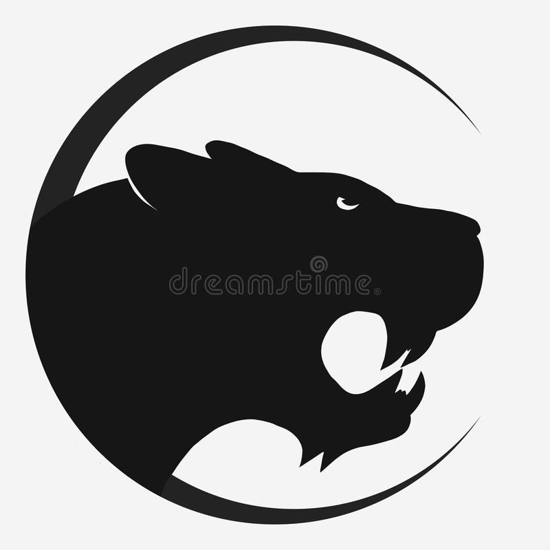 tiger logo vector stock vector illustration of aggressive 84141299 rh dreamstime com Panther Logo Clip Art Black Panther Logo