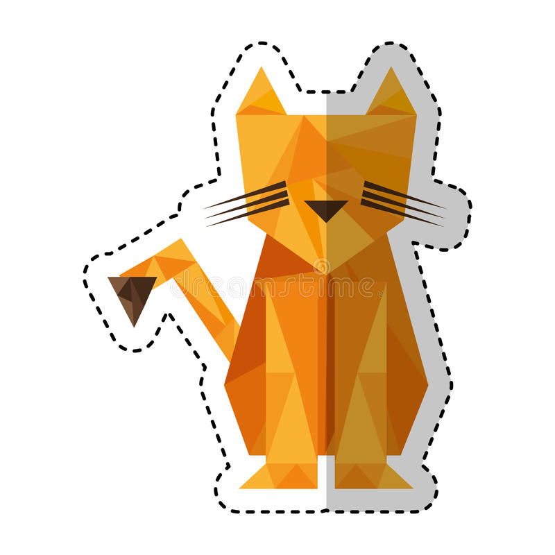 Tiger low poly style stock illustration