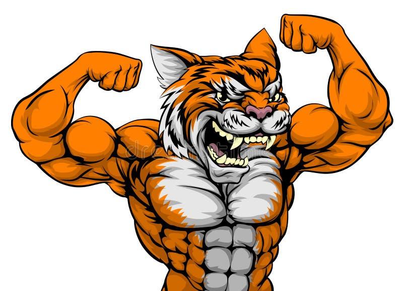 Tiger Man Mascot stock illustratie
