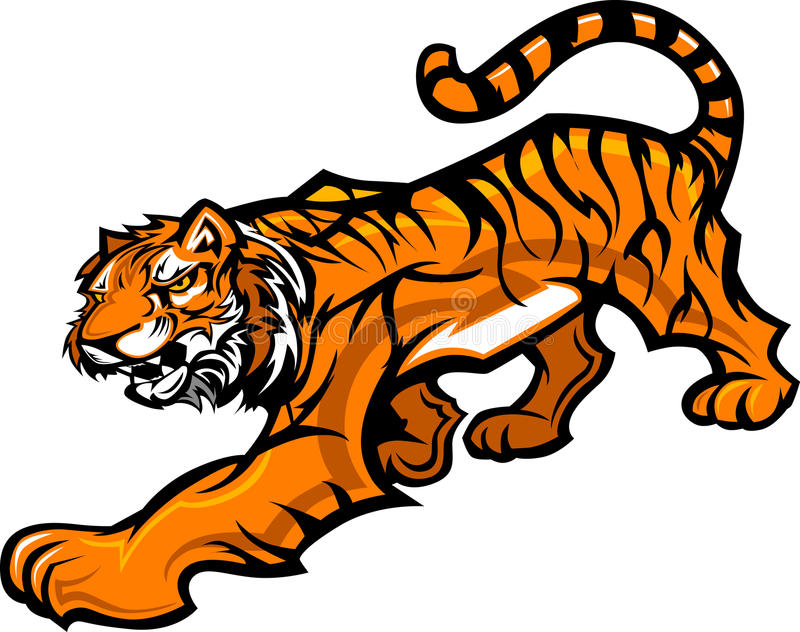 Download Tiger Mascot Body Graphic Royalty Free Stock Photo - Image: 22082495