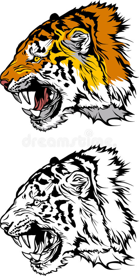 Tiger Mascot Logo Royalty Free Stock Photo