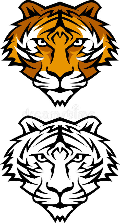 Free Tiger Mascot Vector Logo Stock Photo - 12270610