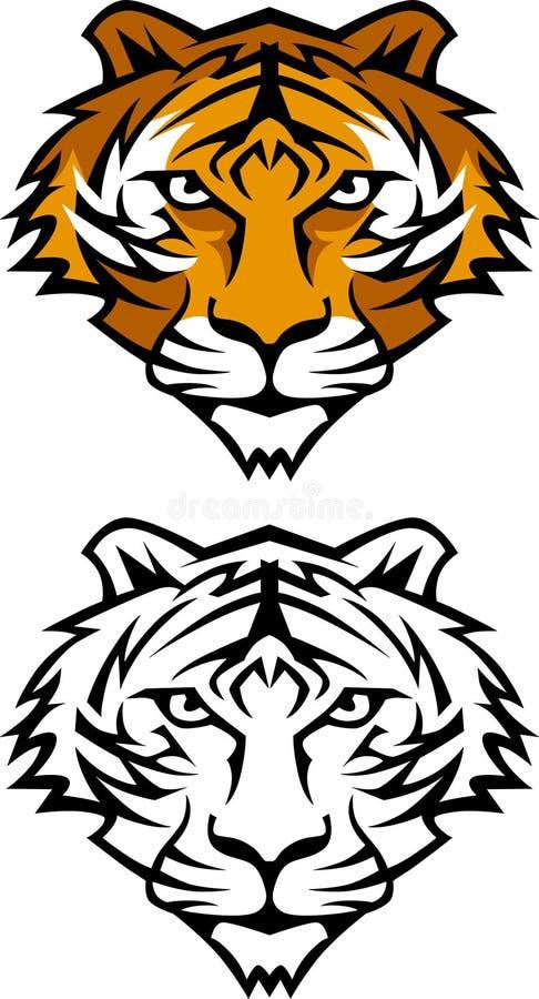 Tiger-Maskottchen-Zeichen stock abbildung