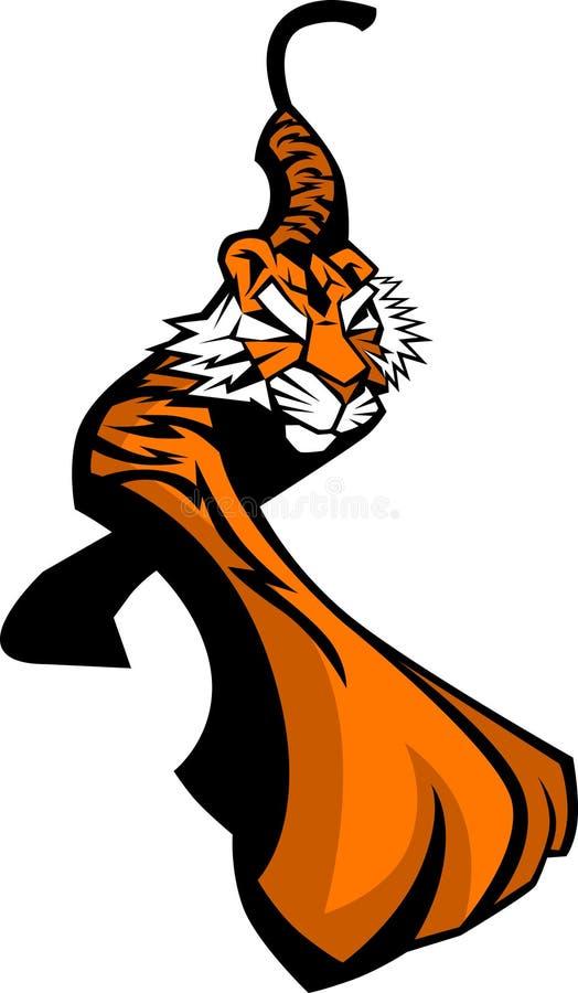 Tiger-Maskottchen-Zeichen Lizenzfreies Stockbild